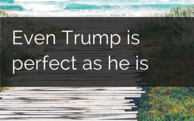 Even Trump is perfect as he is